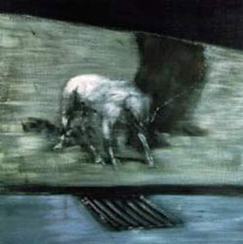 Hombre con perro. Francis Bacon